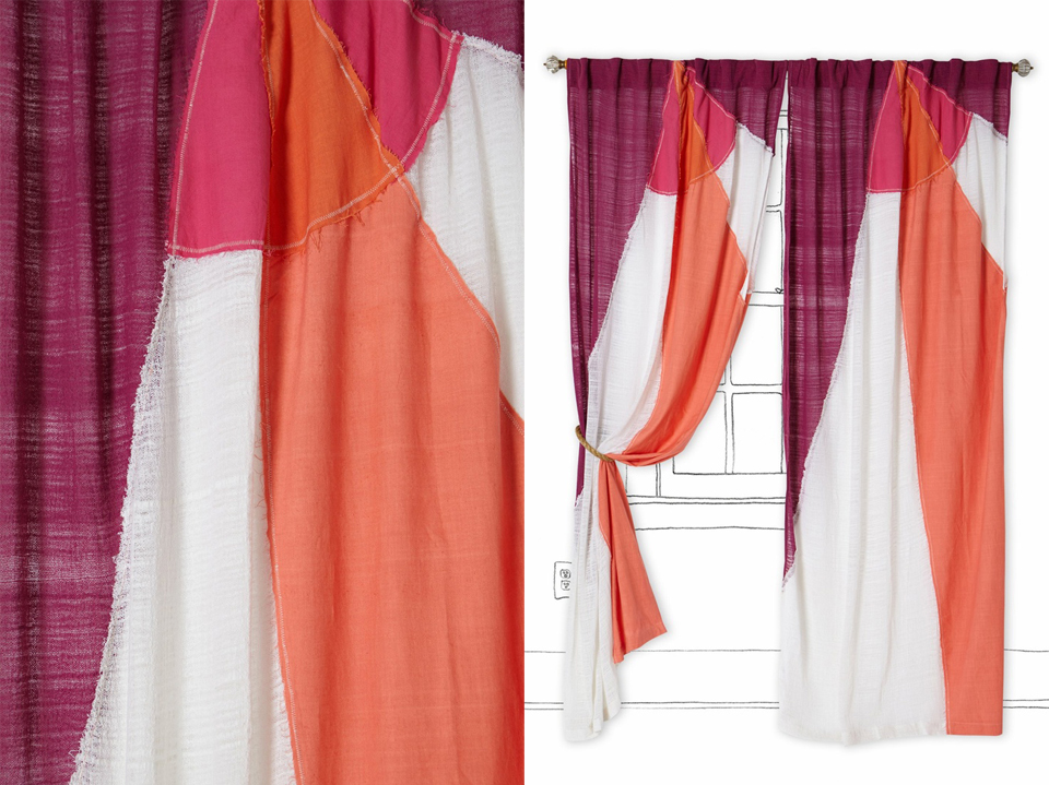 my latest design: the Spinnaker curtain for Anthropologie!