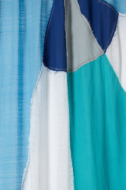 close up of the Spinnaker curtain from Anthropologie
