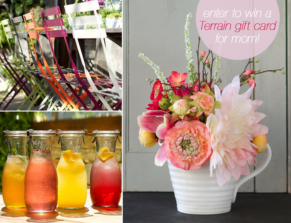 set the table for a mother's day brunch... and enter the Terrain giveaway for a $200 giftcard!