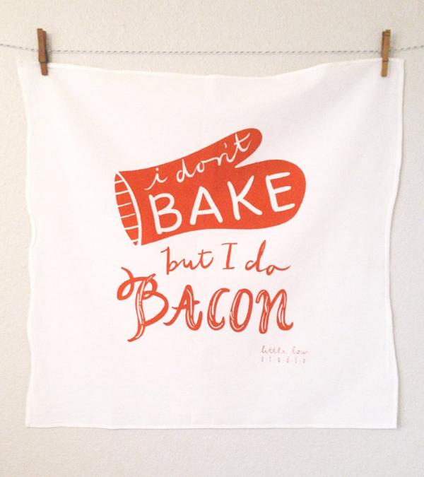 brika, bacon, dishtowel, baking,