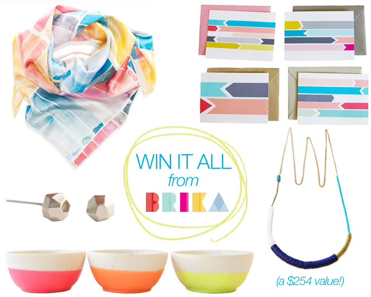 win it all with this giveaway from BRIKA