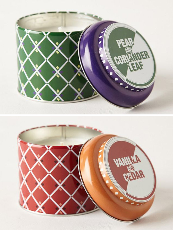 candles from Anthropologie