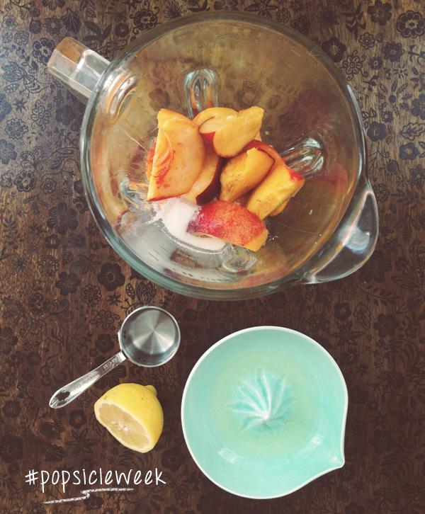 Peachy Keen Pops #popsicleweek
