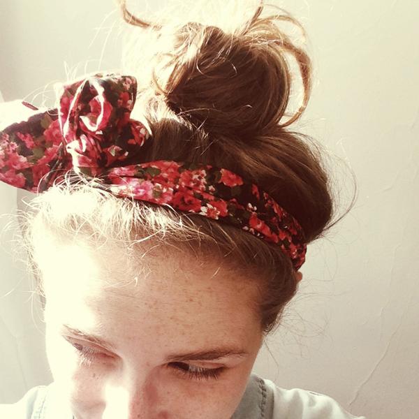 head wrap + top knot
