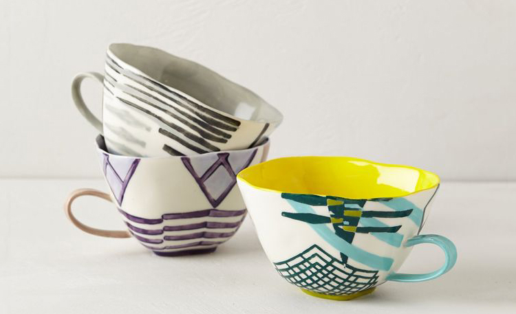 crosshatch mugs from anthropologie