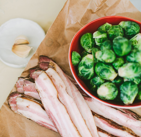 Recipe: Roasted Brussels Sprouts and Bacon {inspired by the Ziploc Holiday Collection}