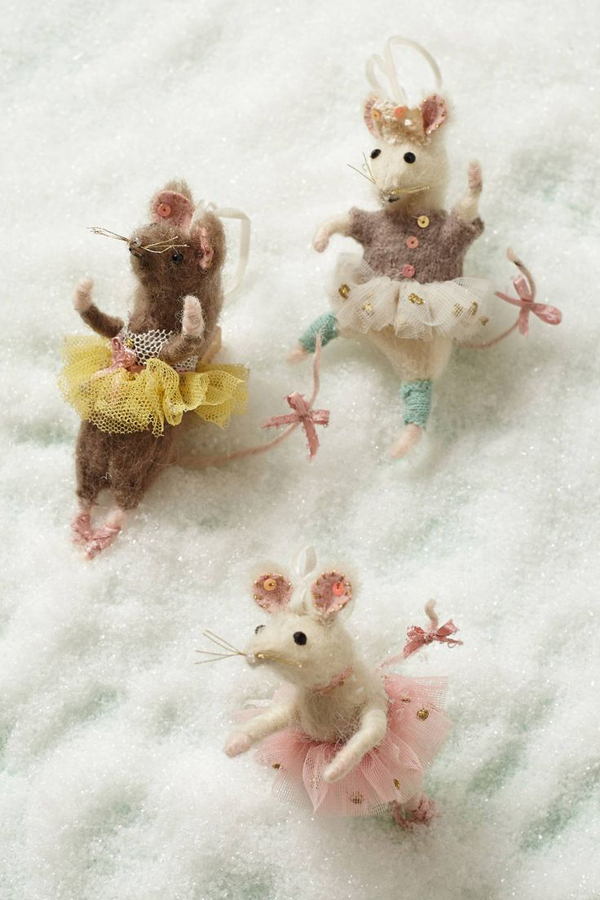 brava mouse ornaments from Anthropologie