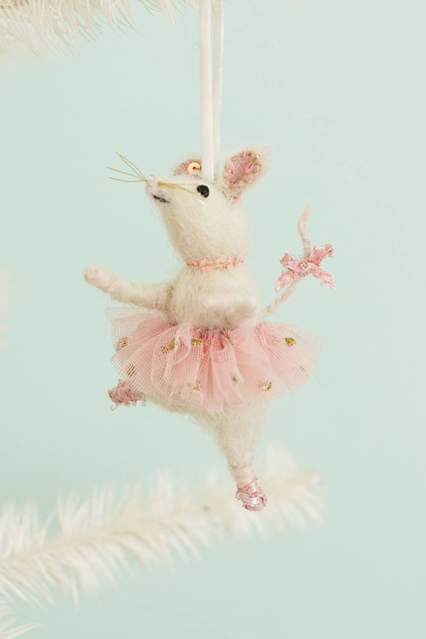 brava mouse ornament from Anthropologie