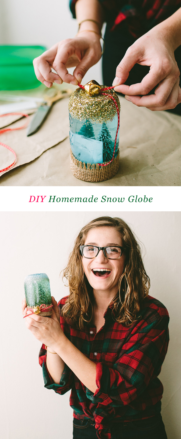 DIY Homemade Snow Globe #ziploc #holidaycollection #DIY // www.jojotastic.com