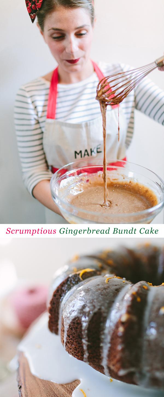 Scrumptious Gingerbread Bundt Cake #recipe #ziploc #holidaycollection // www.jojotastic.com