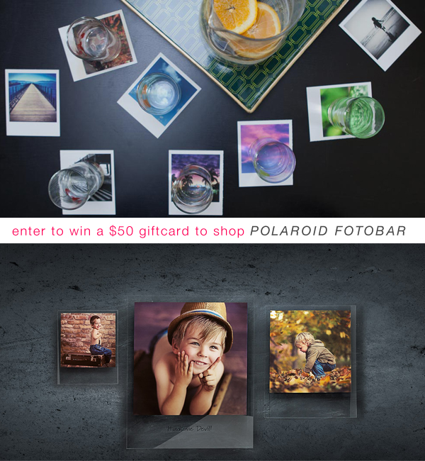 enter to win a $50 gift card to shop the Polaroid Fotobar