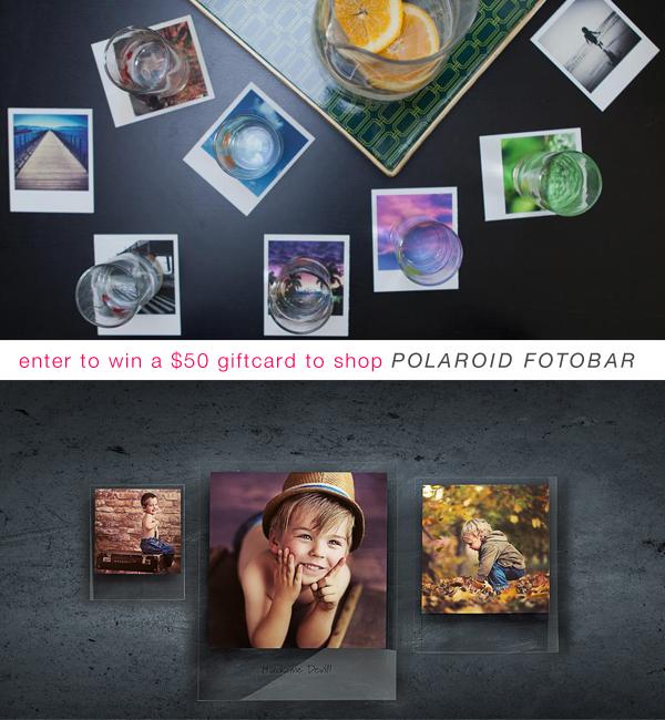 enter to win a $50 gift card to shop the Polaroid Fotobar