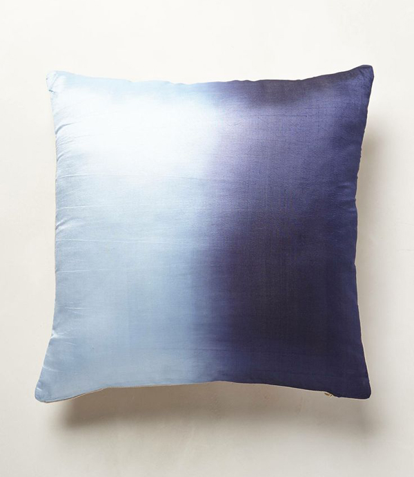 dip-dyed pillows from anthropologie