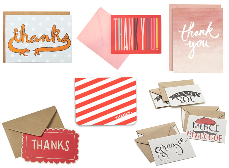 post-holiday thank you card round up