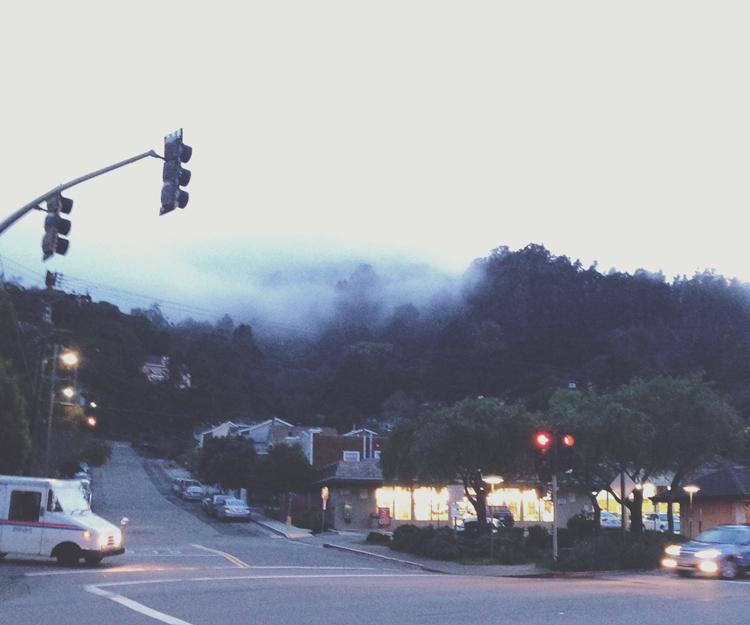 the fog rollin' in