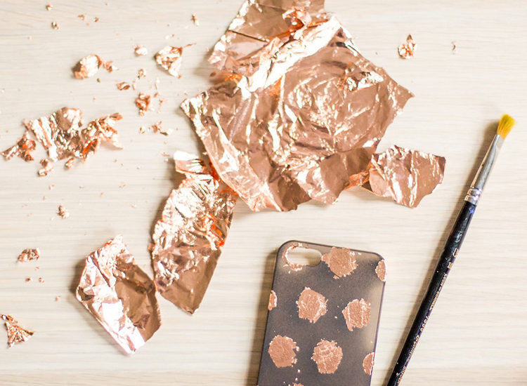 copper foil iPhone case DIY