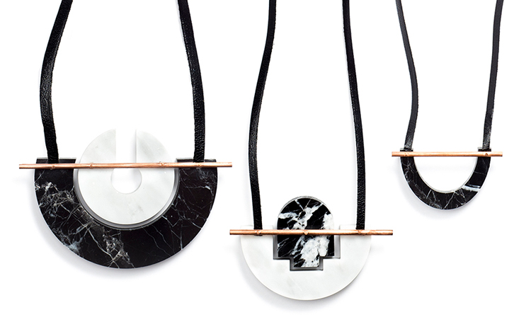 marble necklaces from Rill Rill Jewelry // jojotastic.com