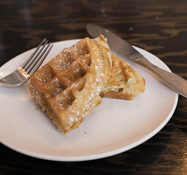 black truffle waffles