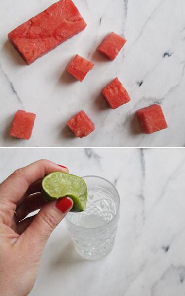 portrait of a cocktail // watermelon basil gimlet