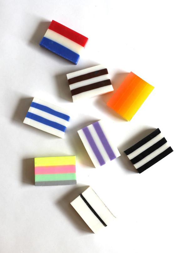 striped soaps