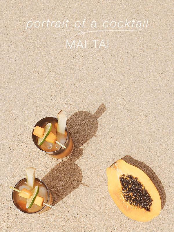 portrait of a cocktail // mai tai