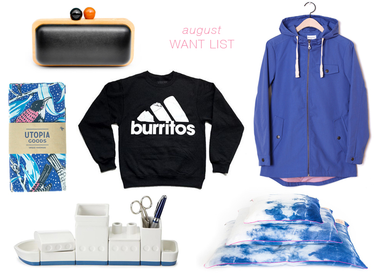 want list of the month // august