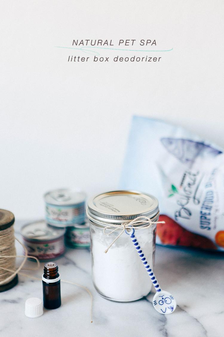 DIY natural pet spa // natural litter box deodorizer #BeyondPartners