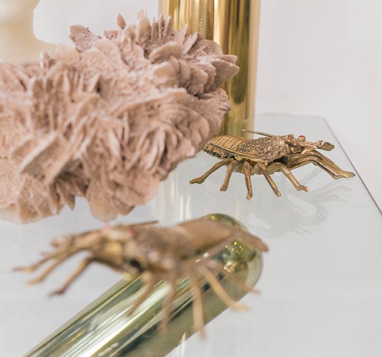 vintage brass lobsters