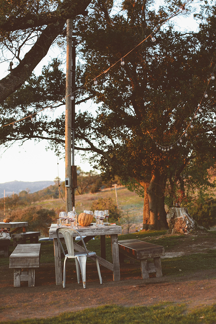 a Thanksgiving table - california style