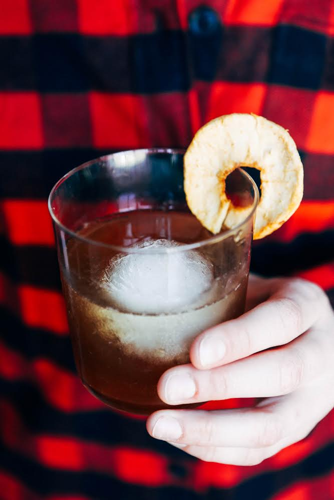 portrait of a cocktail // Spiced Apple Old Fashioned recipe