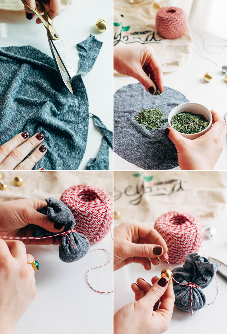 natural pet tips for pets during the holidays —upcycled catnip toy #beyondpartners
