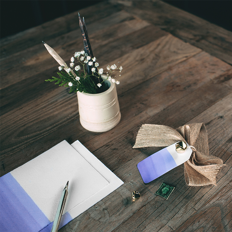dip dye stationery DIY / craft