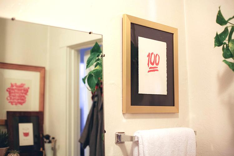 art update for the bathroom with Framebridge + a code for 20% off custom framing