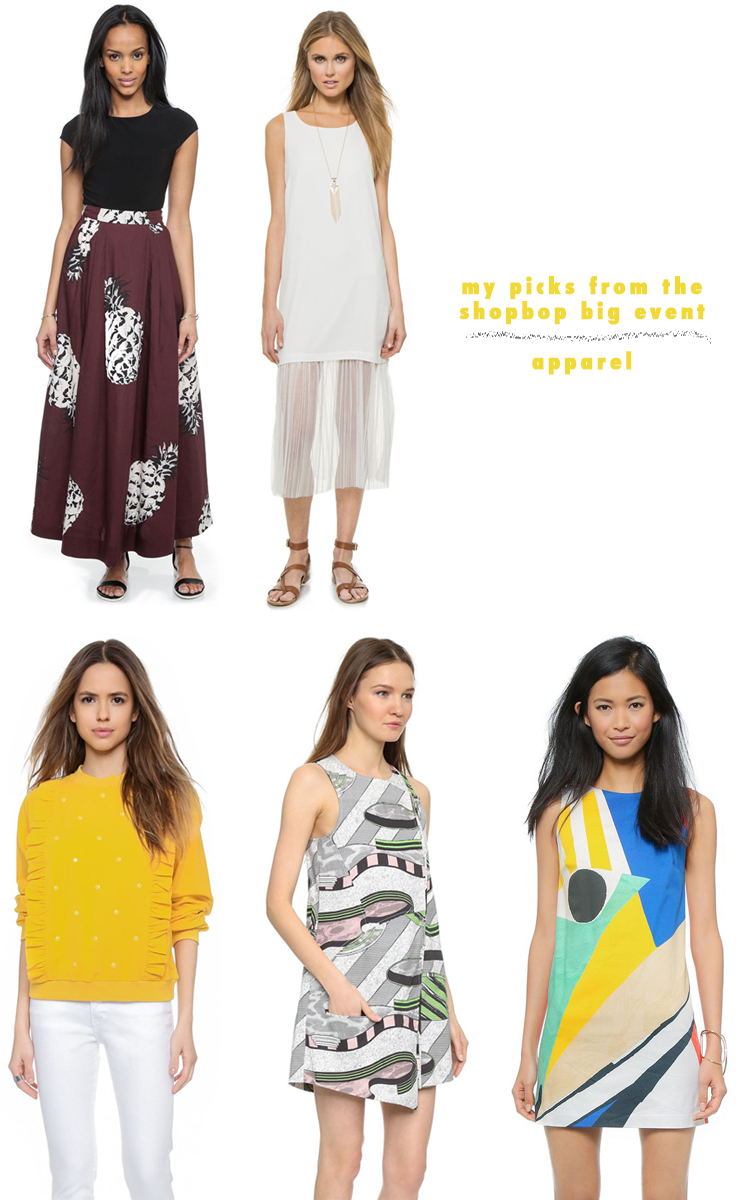 my picks from the shopbop big event // get up to 25% off with a special code at checkout