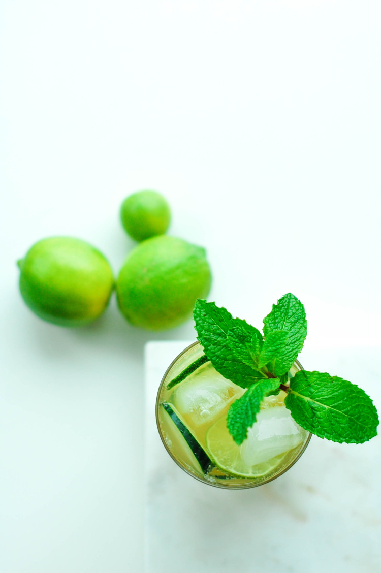 portrait of a cocktail // luck of the irish whiskey rickey www.jojotastic.com