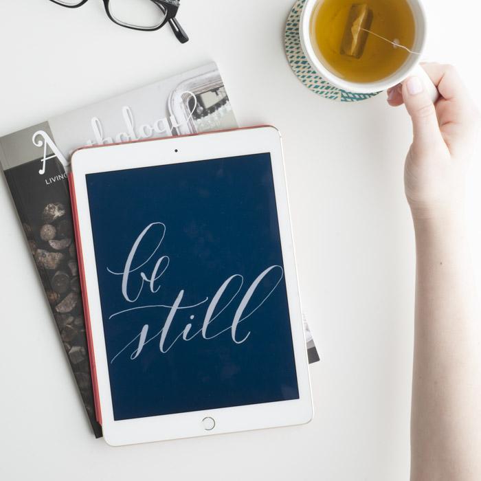 "a little extra grace // ""be still"" desktop or mobile download"