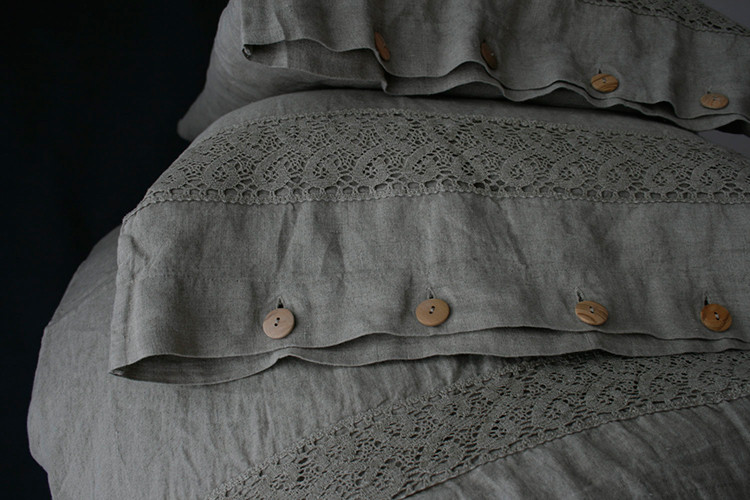 linen bedding from Moo Shop on Etsy