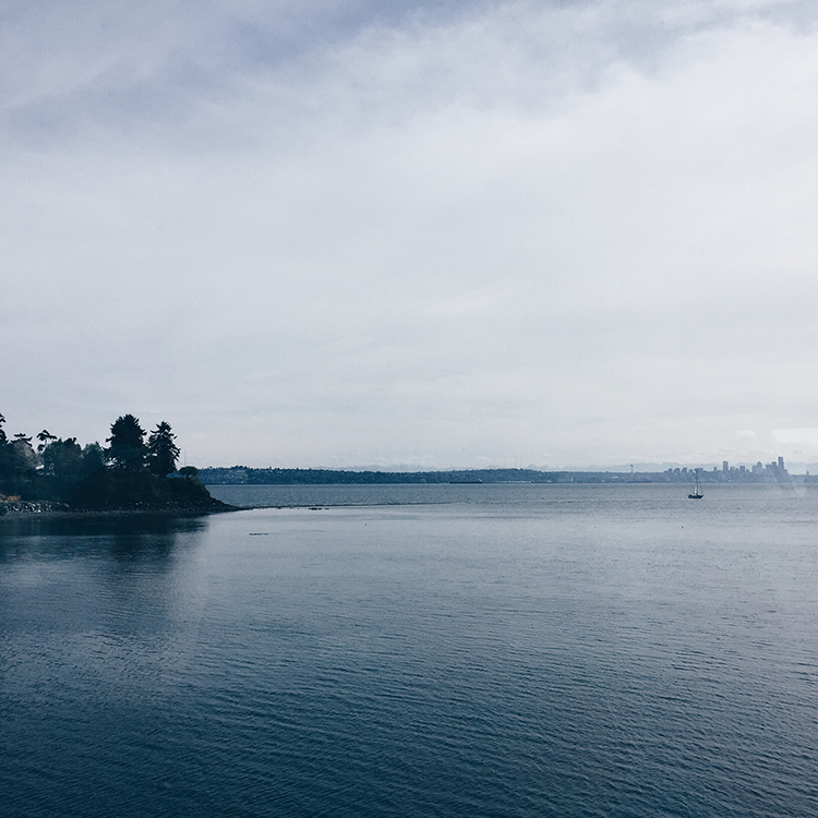 the view from the seattle ferry