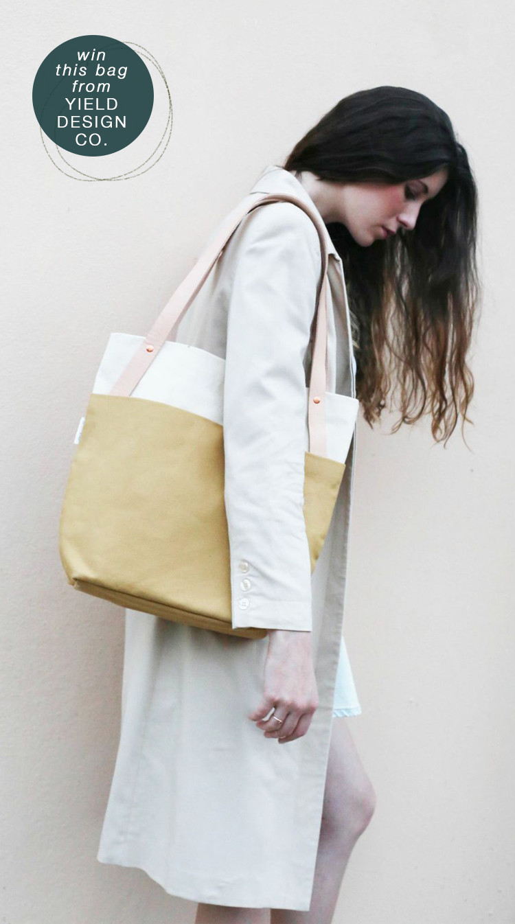 enter to with this tote bag designed by Yield Design Co #giveaway