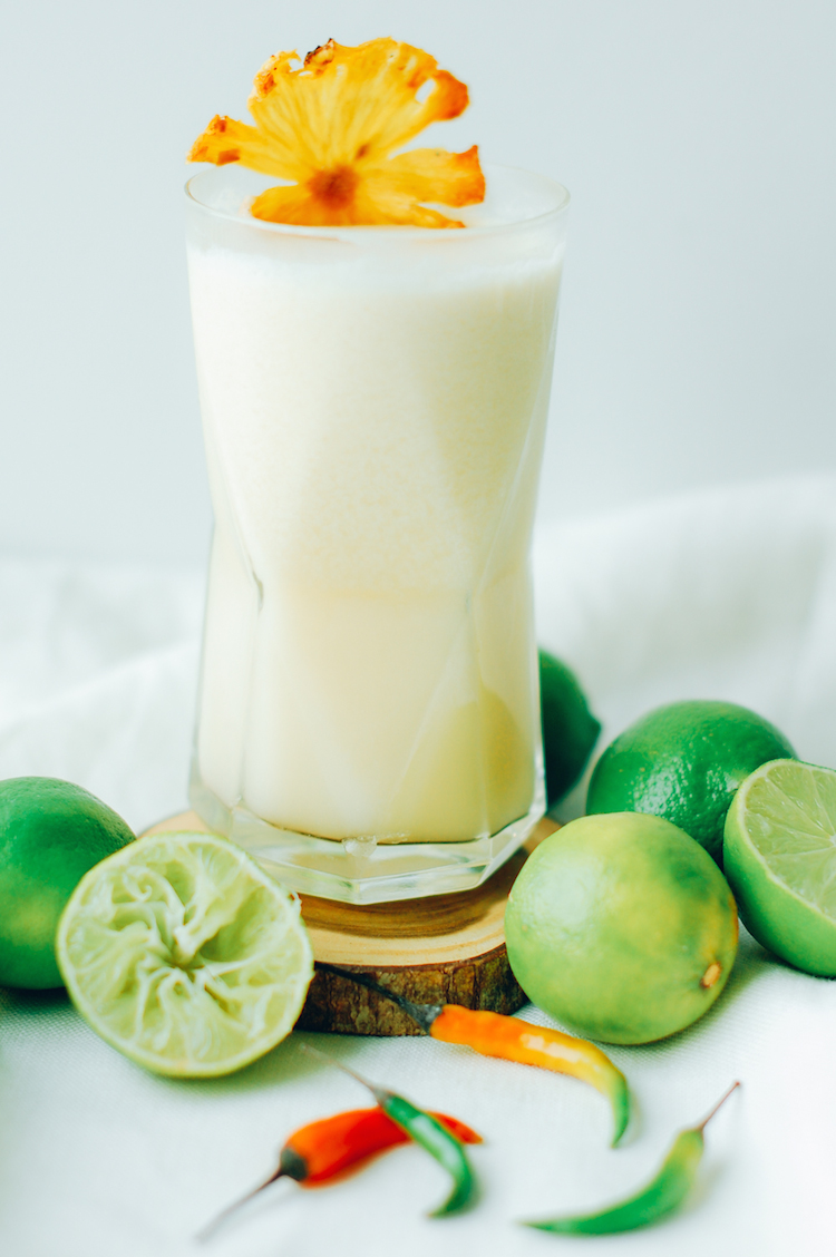 portrait of a cocktail // thai chili colada www.jojotastic.com