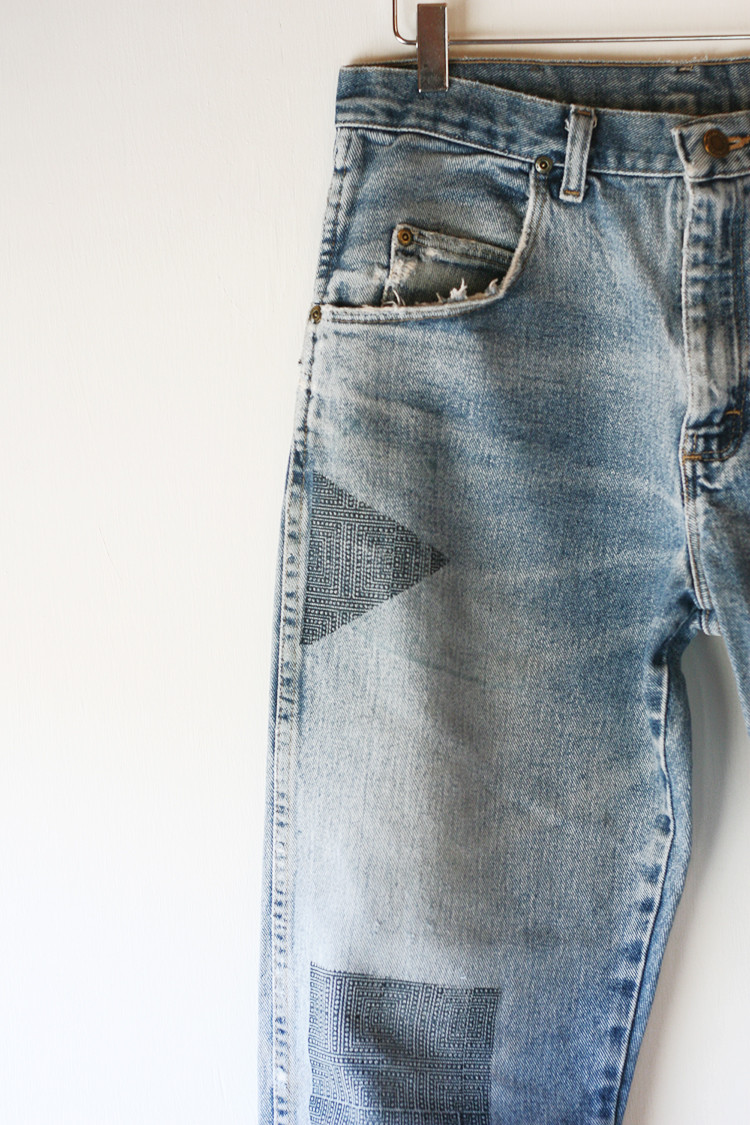 art x denim — a gorgeous collaboration with textile designer susan connor and everything golden // www. jojotastic.com