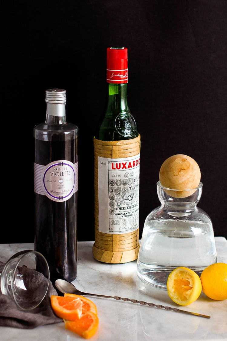 portrait of a cocktail // the aviation @jojotastic jojotastic.com #recipe