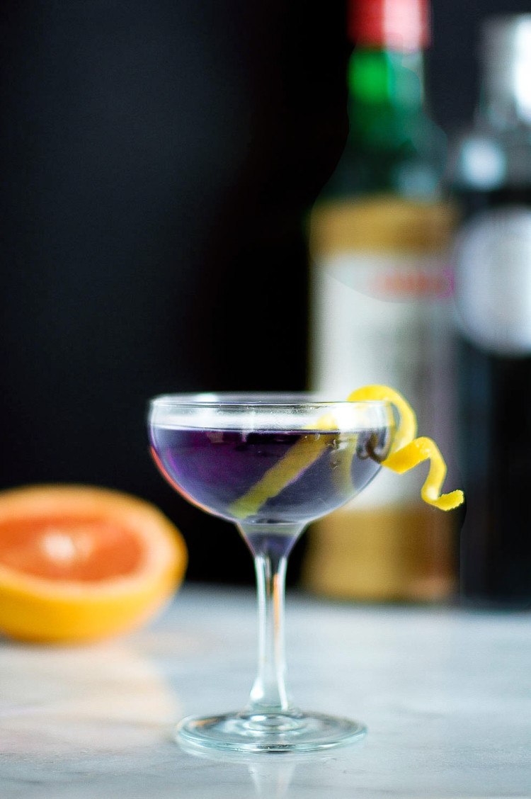 portrait of a cocktail // the aviation @jojotastic jojotastic.com #recipe