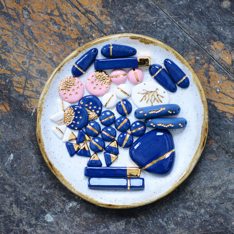 Nautical and Modern Jewelry from Porcelain and Stone // jojotastic.com