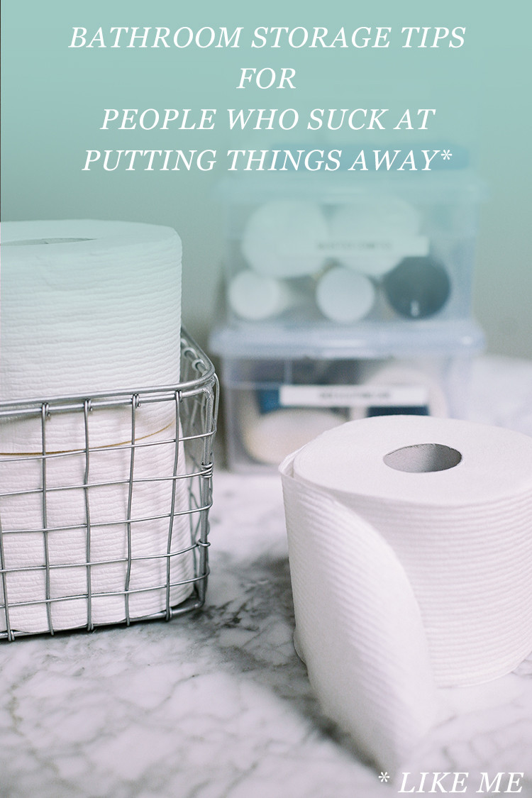 bathroom storage tips for people who suck at putting things away (like me) // jojotastic.com @cottonelle #ad #OnAMegaRoll