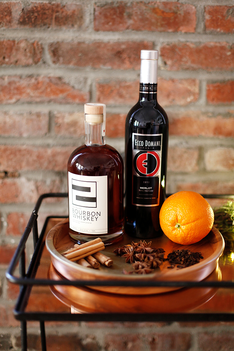 a fall fête + mulled wine old fashioned for Ecco Domani