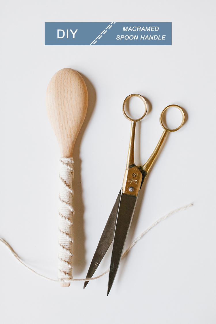 DIY Macramed Spoon Handle // jojotastic.com