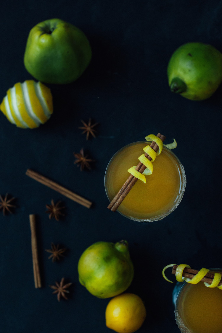 portrait of a cocktail // quincy hot toddy recipe  jojotastic.com