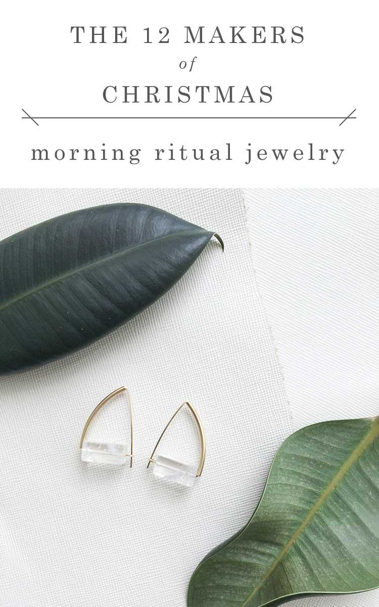 shop small this holiday season with gorgeous gifts from @morningritual // jojotastic.com #12makersofchristmas