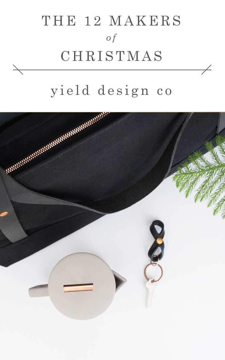 shop small this holiday season with gorgeous gifts from @yielddesignco // jojotastic.com #12makersofchristmas